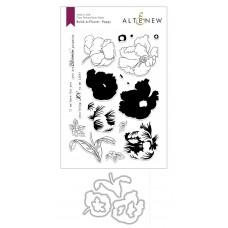 Altenew - Build-A-Flower: Poppy Layering Stamp & Die Set
