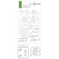 Altenew - A Little Bit of Love Stamp and Die and Coloring Stencil Bundle