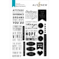 Altenew - Block Sentiments Stamp Set