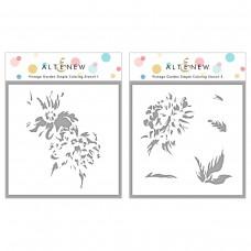Altenew - Vintage Garden Simple Coloring Stencil Set (2 in 1)