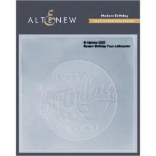 Altenew - Modern Birthday Faux Letterpress Debossing Folder