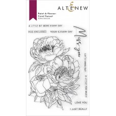 Altenew - Paint-A-Flower: Coral Sunset Outline Stamp Set