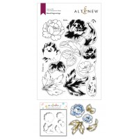 Altenew - Book Engravings Stamp and Die and Coloring Stencil Bundle