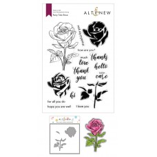 Altenew - Fairy Tale Rose Stamp and Die and Coloring Stencil Bundle