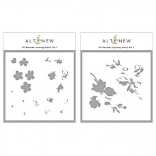 Altenew - Hill Blossoms Layering Stencil and Die Bundle
