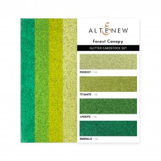 Altenew - Glitter Gradient Cardstock Set - Forest Canopy (3 x 6 inches)