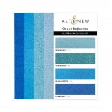 Altenew - Glitter Gradient Cardstock Set - Ocean Reflection (3 x 6 inches)