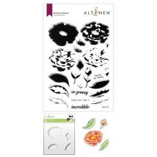 Altenew - Marbled Bloom Stamp and Die and Mask Stencil Bundle