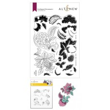 Altenew - Scalloped Ornaments Stamp and Die and Coloring Stencil Bundle