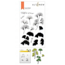 Altenew - Sweet Ginkgo Stamp and Die and Coloring Stencil Bundle
