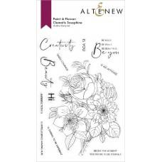Altenew - Paint-A-Flower: Clematis Josephine Outline Stamp Set