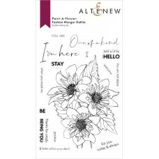 Altenew - Paint-A-Flower: Fashion Monger Dahlia Outline Stamp Set