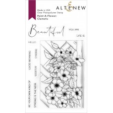 Altenew - Paint-A-Flower: Clematis Outline Stamp Set