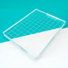 "Catherine Pooler - Acrylic Grid Stamping Block 4-7/8 x 6-1/8"""