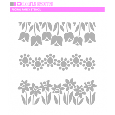 Clearly Besotted - Fancy Floral Stencil
