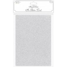 Craft Consortium - A4 Glitter Card - Silver