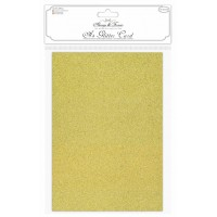 Craft Consortium - A4 Glitter Card - Gold