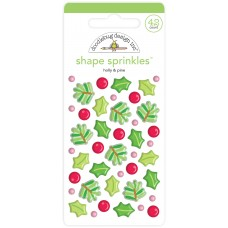 Doodlebug Design - Shape Sprinkles - Holly & Pine