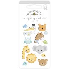 Doodlebug Design - Shape Sprinkles - Cute & Cuddly