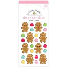 Doodlebug Design - Shape Sprinkles - Cookies & Candies
