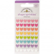 Doodlebug Design - Shape Sprinkles - Rainbow Hearts