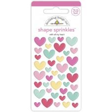 Doodlebug Design - Shape Sprinkles - With All My Heart