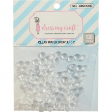 Dress My Craft - Water Droplet Embellishments (100 pieces, 6 mm)