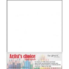 Gina K. Designs - Card Stock - White Artist's Choice 110lb (10 pack)