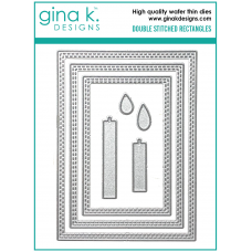 Gina K. Designs - Double Stitched Rectangles Dies