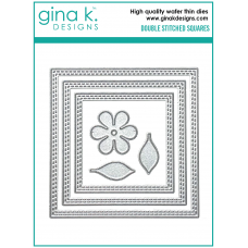Gina K. Designs - Double Stitched Squares Dies