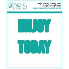Gina K. Designs - Enjoyable Greetings Shadow Die Set