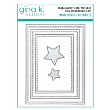 Gina K. Designs - Single Stitched Rectangles Dies