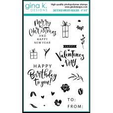 Gina K. Designs - Sketched Wreath Builder