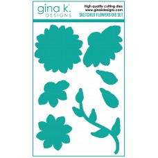 Gina K. Designs - Sketched Flowers Die Set