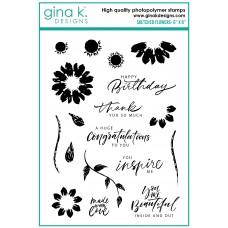 Gina K. Designs - Sketched Flowers