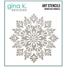 Gina K. Designs - Art Stencil - Snowflake Mandala