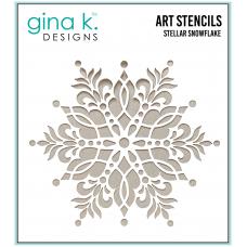 Gina K. Designs - Art Stencil - Stellar Snowflake