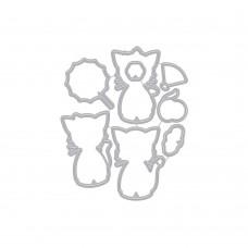 Hero Arts - Kittens in Kimonos Frame Cuts