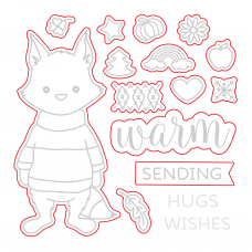 Honey Bee Stamps - Warm Wishes Honey Cuts