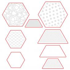 Honey Bee Stamps - Hexagon Patterns Honey Cuts