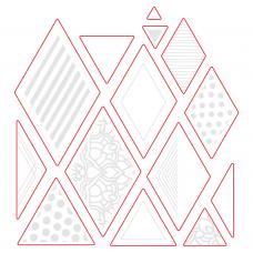 Honey Bee Stamps - Diamond Patterns Honey Cuts