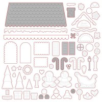 Honey Bee Stamps - Gingerbread House Add-On Honey Cuts
