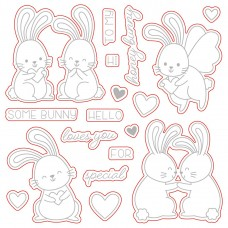 Honey Bee Stamps - Honey Bunnies Honey Cuts