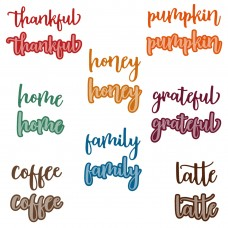 Honey Bee Stamps - Bitty Buzzwords: Fall Honey Cuts