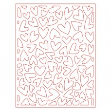 Honey Bee Stamps - Fluttering Hearts Cover Plate Honey Cuts