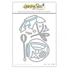 Honey Bee Stamps - Honey Jar Paper Piecing Honey Cuts