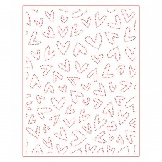 Honey Bee Stamps - Fluttering Hearts Pierced Cover Plate Honey Cuts