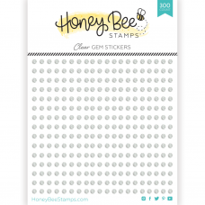Honey Bee Stamps - Clear Gem Stickers