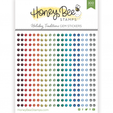 Honey Bee Stamps - Holiday Traditions Gem Stickers