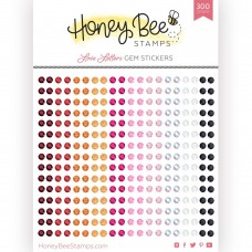 Honey Bee Stamps - Love Letters Gem Stickers